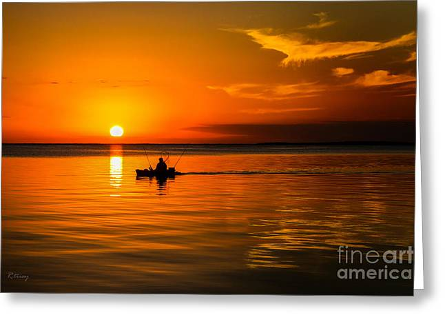 Gold Trout Greeting Cards - Fishing Late Into the Night II Greeting Card by Rene Triay Photography