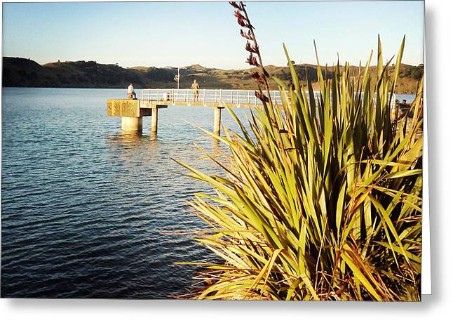 Two Fishing Men Greeting Cards - Fishing Greeting Card by Les Cunliffe