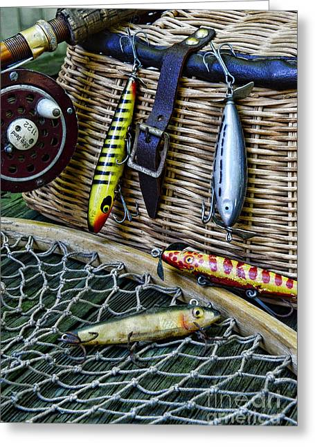 Trout Fishing Greeting Cards - Fishing - Lots of Gear Greeting Card by Paul Ward