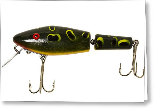 Minnow Pattern Greeting Cards - Fishing Lure 6 A Greeting Card by John Brueske