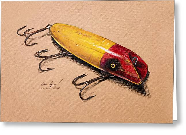 Muskie Greeting Cards - Fishing Lure Greeting Card by Aaron Spong