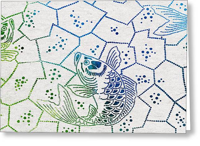 Fishing Net Greeting Card by Aged Pixel