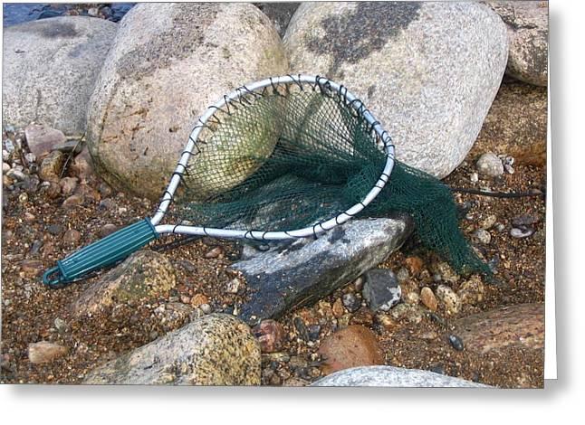 Fishing Net Greeting Card by Kerri Mortenson