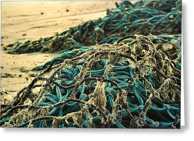 Peace Square Format Greeting Cards - Fishing nets Greeting Card by Gynt