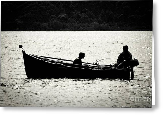 Pastimes Greeting Cards - Fishing on Loch Greeting Card by Alan Oliver