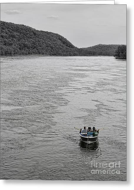 Netting Greeting Cards - Fishing on the Delaware Greeting Card by Lee Dos Santos