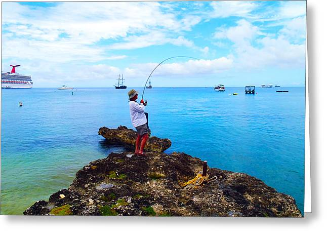Igfa Greeting Cards - Fishing Paradise Greeting Card by Carey Chen