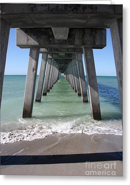 Christiane Schulze Greeting Cards - Fishing Pier Architecture Greeting Card by Christiane Schulze Art And Photography