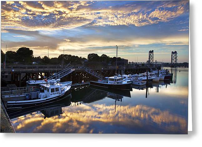 Prescott Greeting Cards - Fishing Pier Sunset Greeting Card by Eric Gendron