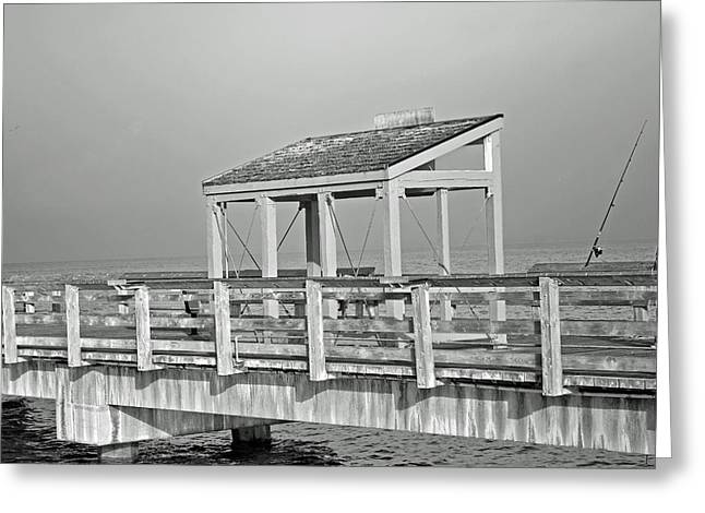 Ruston Greeting Cards - Fishing Pier Greeting Card by Roger Reeves  and Terrie Heslop