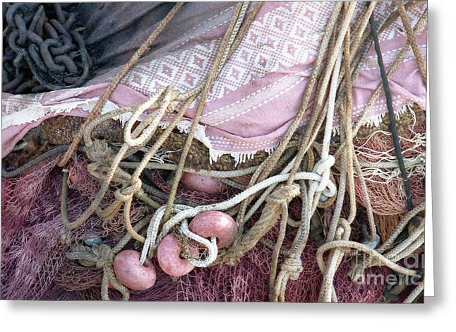 Trouve Greeting Cards - Fishing  Pink Greeting Card by Carol Weitz