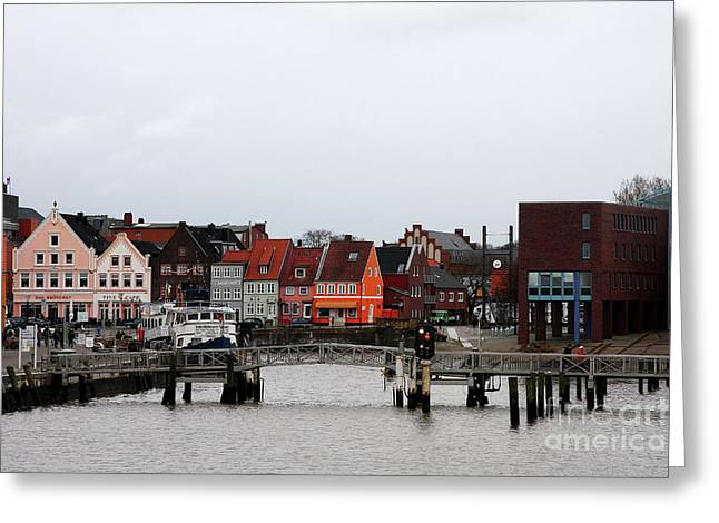Christiane Schulze Greeting Cards - Fishing Port Husum Greeting Card by Christiane Schulze Art And Photography