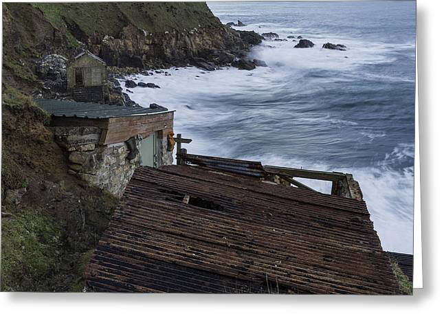 Cape Cornwall Greeting Cards - Fishing Shacks Greeting Card by Wendy Chapman