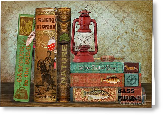 Fishing Storie Greeting Card by Jean Plout