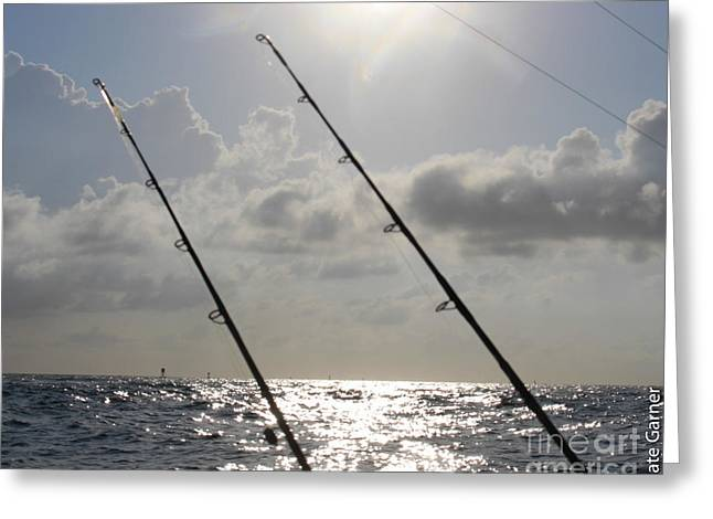 Fishing Tournaments Greeting Cards - Fishing Sun Greeting Card by Nate Garner