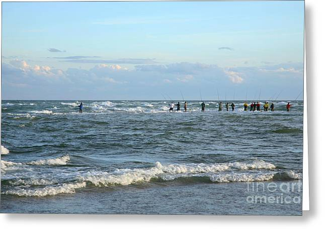 Fishing The Point At Cape Hatteras Greeting Card by Suzi Nelson