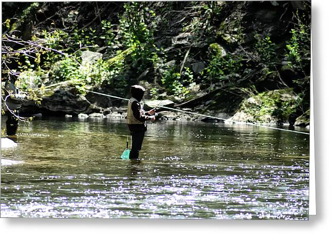 Fishing Creek Digital Greeting Cards - Fishing the Wissahickon Greeting Card by Bill Cannon