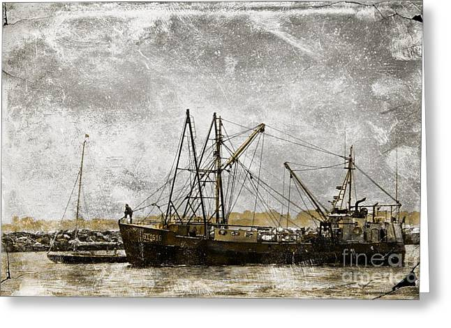 Fishing Boats Greeting Cards - Fishing Trawler Greeting Card by Marcia Lee Jones