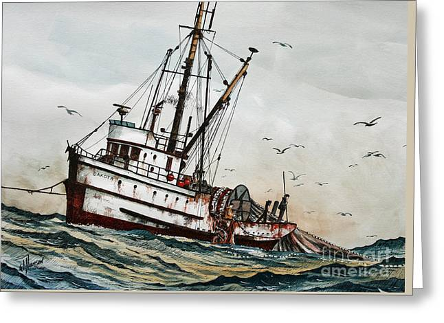 Fishing Vessel Dakota Greeting Card by James Williamson