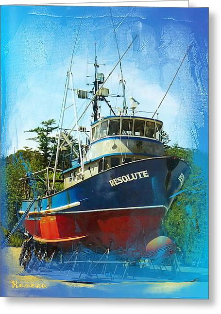 Recently Sold -  - Water Vessels Greeting Cards - Fishing Vessel Resolute Greeting Card by Sadie Reneau