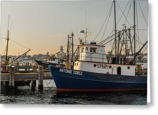 Provincetown Greeting Cards - Fishing Village Greeting Card by Bill  Wakeley