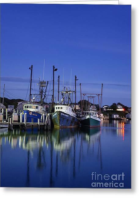 New England Village Greeting Cards - Fishing Village of Menemsha Greeting Card by John Greim