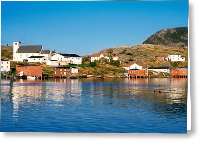 Residential Structure Greeting Cards - Fishing Village On An Island, Salvage Greeting Card by Panoramic Images