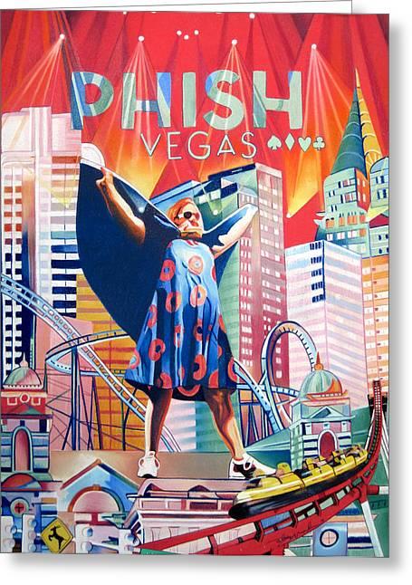 Fishman In Vegas Greeting Card by Joshua Morton