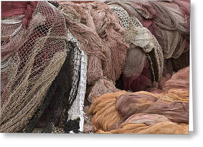 Textile Photographs Photographs Greeting Cards - Fishnets Greeting Card by Frank Tschakert