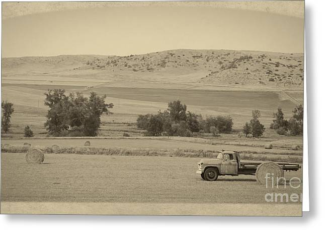 Old Trucks Greeting Cards - Fishtail Montana Greeting Card by Edward Fielding