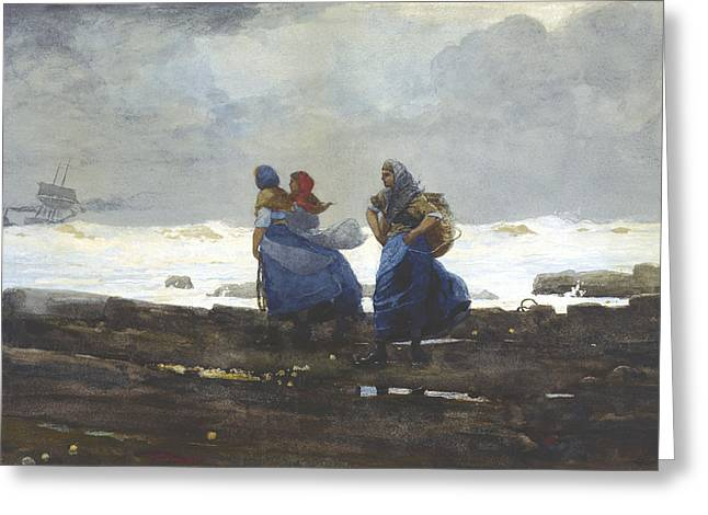 Marines Greeting Cards - Fishwives Greeting Card by Celestial Images