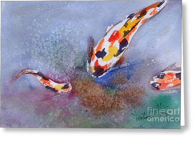 Decorative Fish Greeting Cards - Fishy Greeting Card by Mohamed Hirji