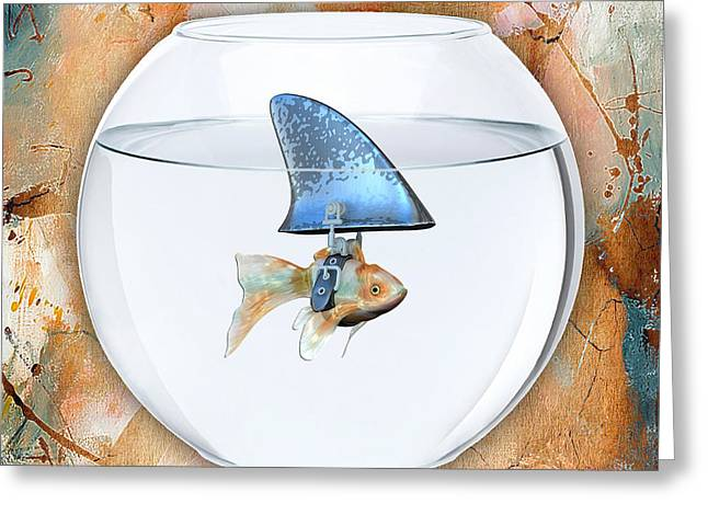 Colorful Fish Greeting Cards - Fishy Story Greeting Card by Marvin Blaine