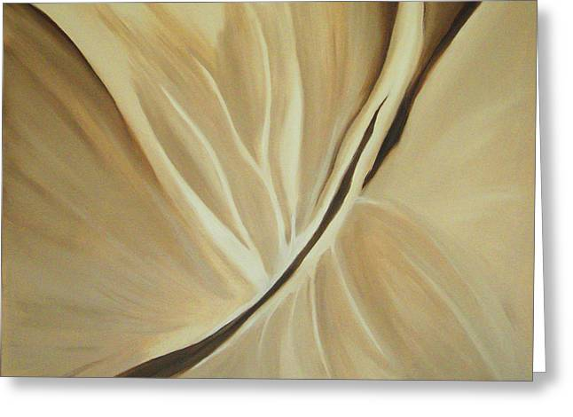 Kirk Paintings Greeting Cards - Fissure IV Cocoa Greeting Card by Kirk Ellison