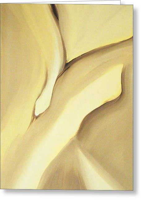 Kirk Paintings Greeting Cards - Fissure V Cocoa II Greeting Card by Kirk Ellison