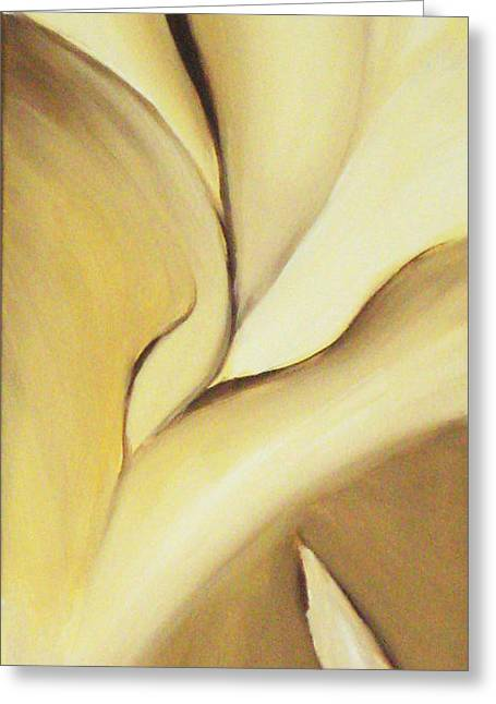 Kirk Paintings Greeting Cards - Fissure V Cocoa Greeting Card by Kirk Ellison