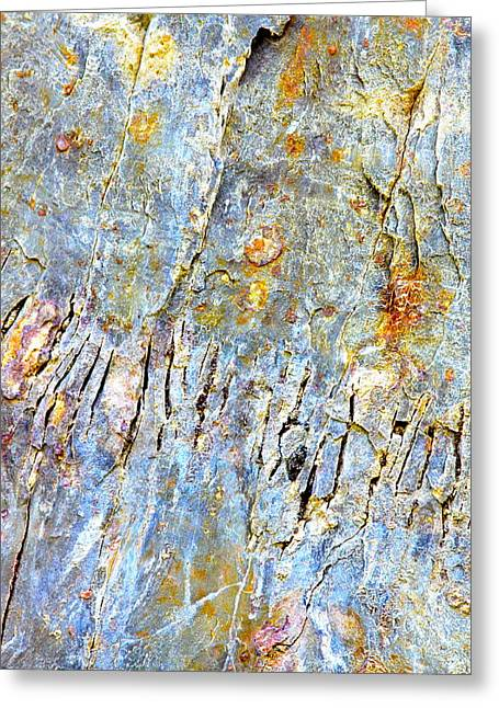 Fissure Greeting Cards - Fissured Rock Abstract Greeting Card by Karon Melillo DeVega