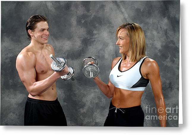 Nike Greeting Cards - Fitness Couple 9 Greeting Card by Gary Gingrich Galleries