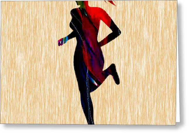 Inspiration Greeting Cards - Fitness Runner Greeting Card by Marvin Blaine