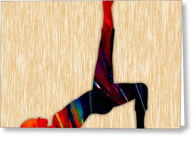 Zen Greeting Cards - Fitness Yoga Greeting Card by Marvin Blaine