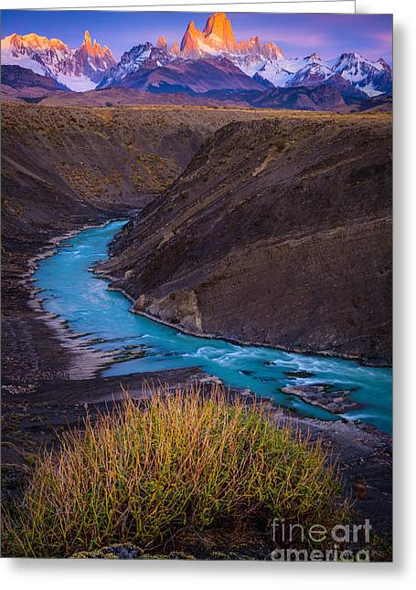 Fitz Roy Dawn   Greeting Card by Inge Johnsson