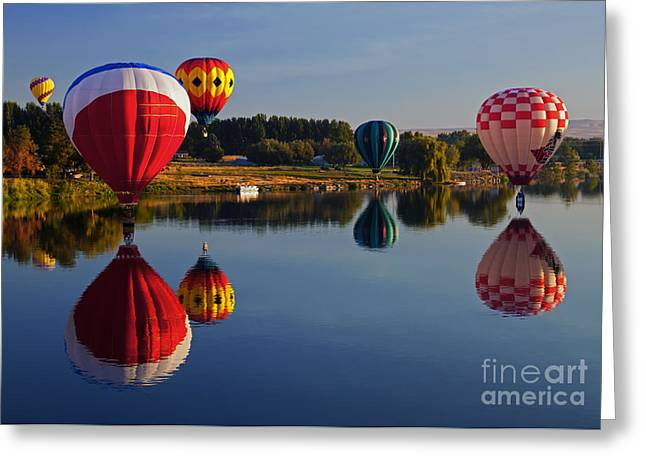 Yakima River Greeting Cards - Five Aloft Greeting Card by Mike  Dawson