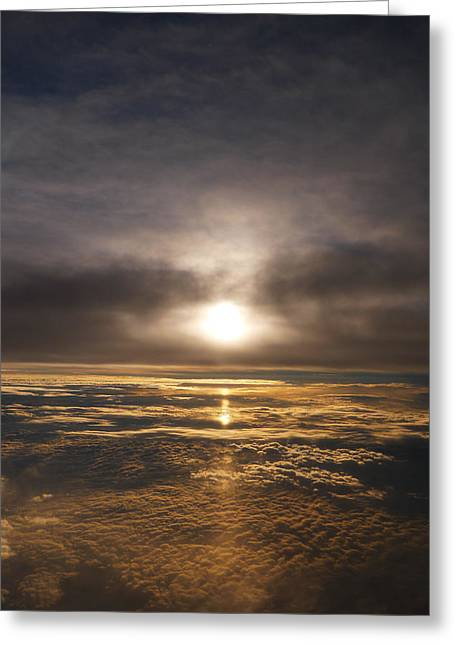 Sun Breakthrough Greeting Cards - Five and a Half mile Sunset Greeting Card by Richard Reeve