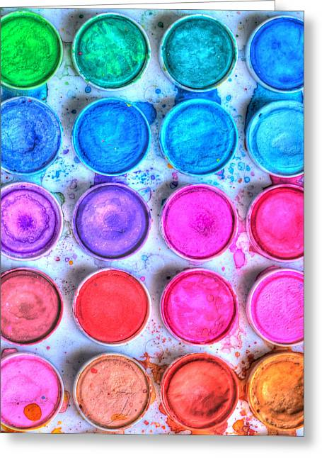 Paintbox Greeting Cards - Five By Four Watercolor Greeting Card by Heidi Smith