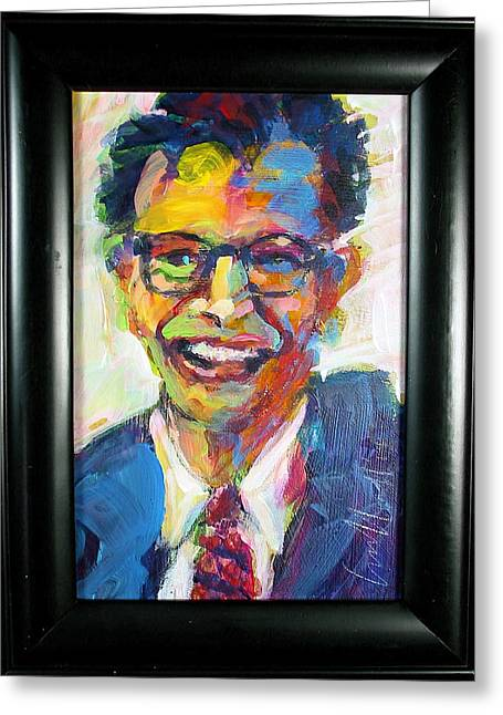 Brubeck Greeting Cards - Five-Four Time Greeting Card by Les Leffingwell