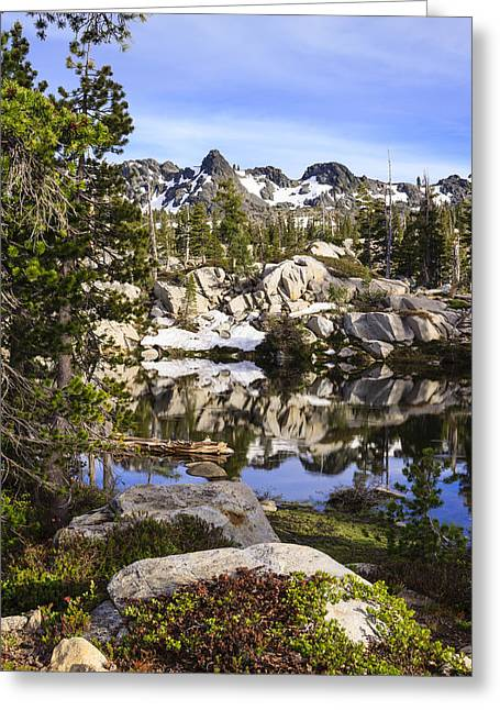 Tahoe National Forest Greeting Cards - Five Lakes Basin 2 Greeting Card by Karma Boyer