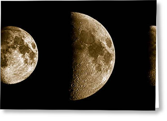 Moonrise Greeting Cards - Five Moons No2 Greeting Card by Weston Westmoreland