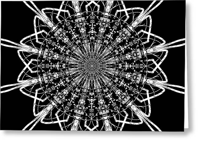 Geometrical Art Greeting Cards - Five  Greeting Card by Pasha  Mad