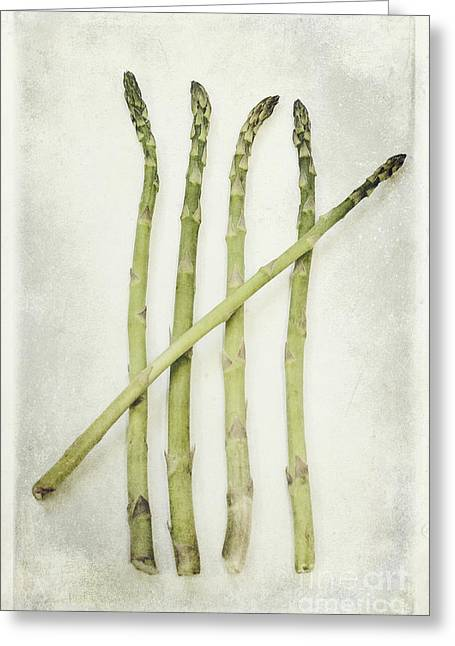 Asparagus Greeting Cards - Five Greeting Card by Priska Wettstein