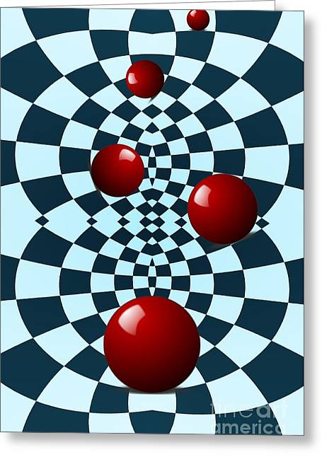 Office Space Digital Greeting Cards - Five Red Balls Greeting Card by Sarah Loft